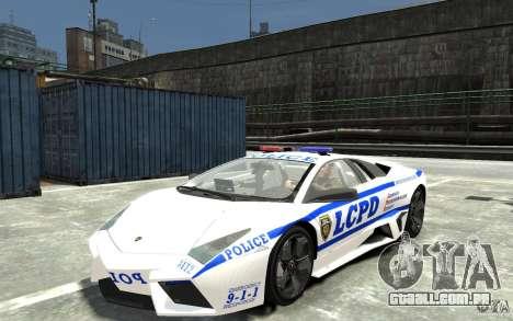 Lamborghini Reventon LCPD para GTA 4
