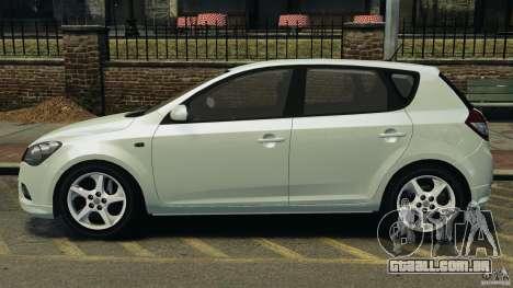 Kia Ceed 2011 para GTA 4 esquerda vista