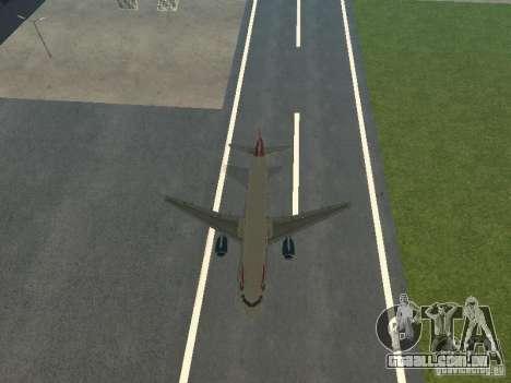 Airbus A320 British Airways para vista lateral GTA San Andreas