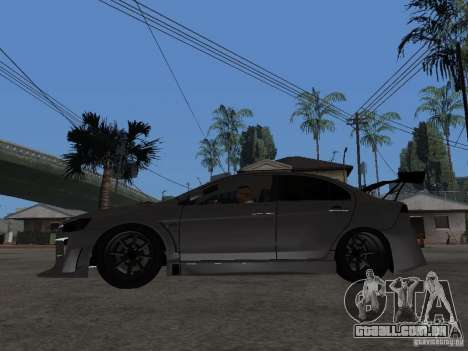 Mitsubishi Lancer Evolution X Drift Spec para GTA San Andreas esquerda vista