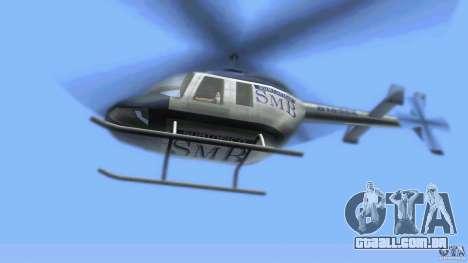 SubtopiCo SMB Maverick para GTA Vice City vista traseira