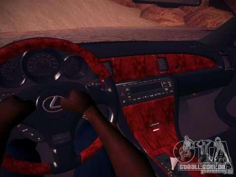 Lexus SC430 Daigo Saito para GTA San Andreas vista interior