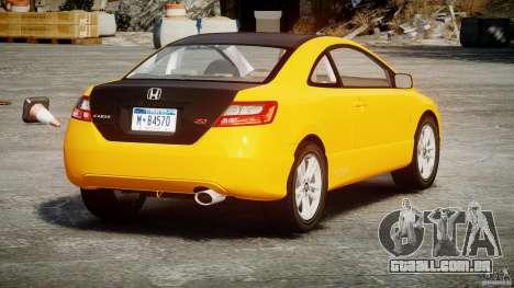 Honda Civic Si Coupe 2006 v1.0 para GTA 4 traseira esquerda vista