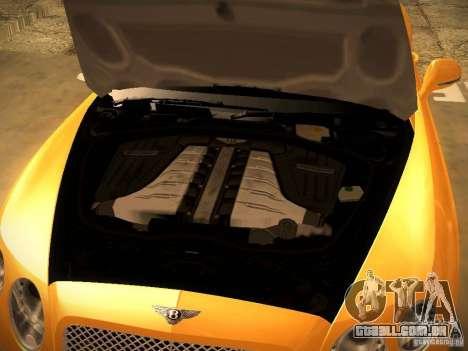 Bentley Continental GT 2011 para GTA San Andreas vista traseira