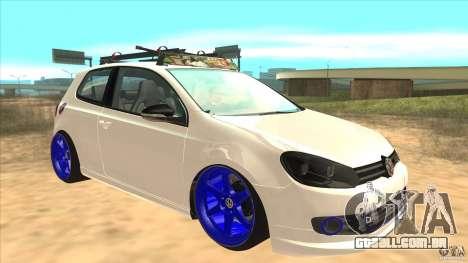 Volkswagen Golf MK6 Hybrid GTI JDM para GTA San Andreas vista traseira