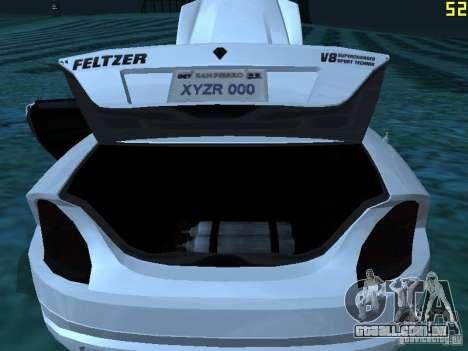GTA IV Feltzer para GTA San Andreas vista interior