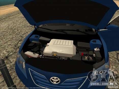 Toyota Camry para GTA San Andreas vista direita