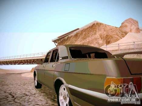 GÁS-31025 para GTA San Andreas traseira esquerda vista