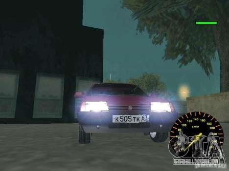 VAZ 2108 clássico para GTA San Andreas traseira esquerda vista