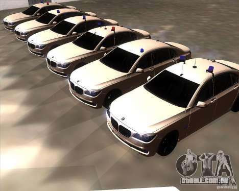 BMW 750Li 2010 para GTA San Andreas vista interior