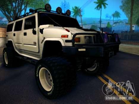 Hummer H2 Monster 4x4 para GTA San Andreas