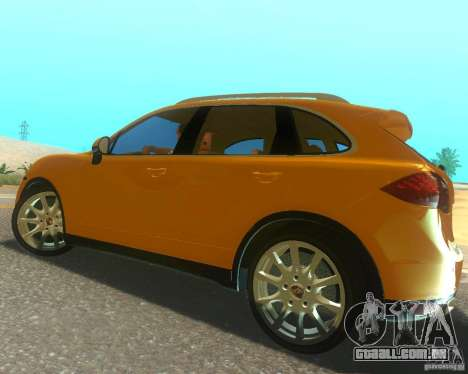 Porsche Cayenne 958 2010 V1.0 para GTA San Andreas vista superior