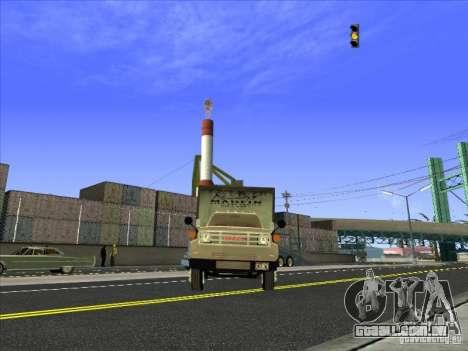 Yankee baseado no GMC para GTA San Andreas vista traseira