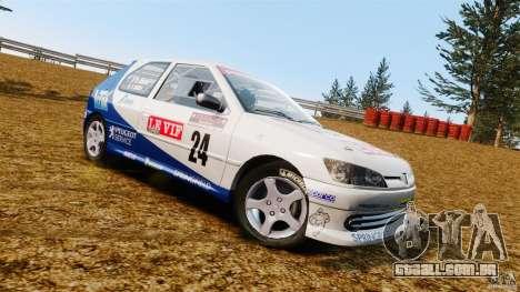 Peugeot 306 Gr. N Rally para GTA 4 esquerda vista