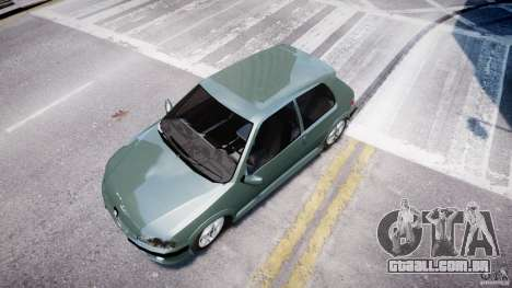 Peugeot 106 Quicksilver para GTA 4 vista de volta