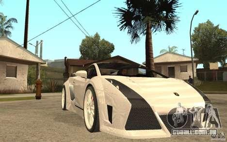 Lamborghini Gallardo MW para GTA San Andreas vista traseira