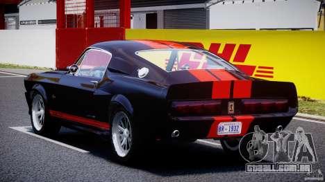 Ford Shelby GT500 1967 para GTA 4 traseira esquerda vista