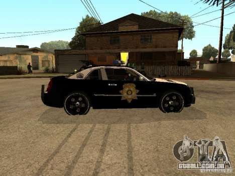 Chrysler 300C Police para GTA San Andreas esquerda vista