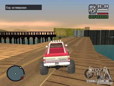 Monster tracks v1.0 para GTA San Andreas quinto tela