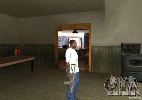 KAC PDW para GTA San Andreas por diante tela
