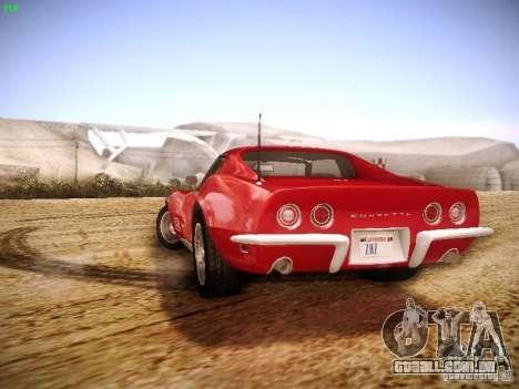 Chevrolet Corvette Stingray 1968 para GTA San Andreas vista interior