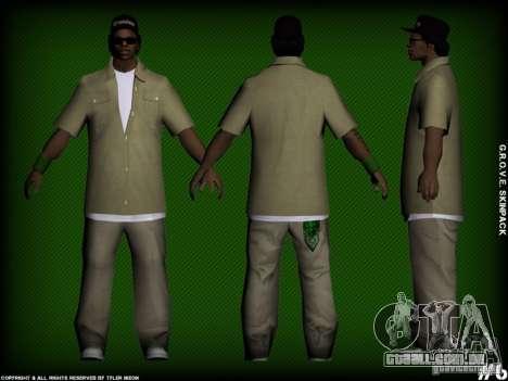 G.R.O.V.E. Skinpack para GTA San Andreas por diante tela