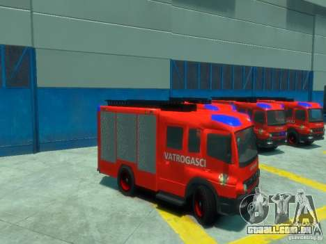 Mercedes-Benz Atego Fire Departament para GTA 4 vista lateral