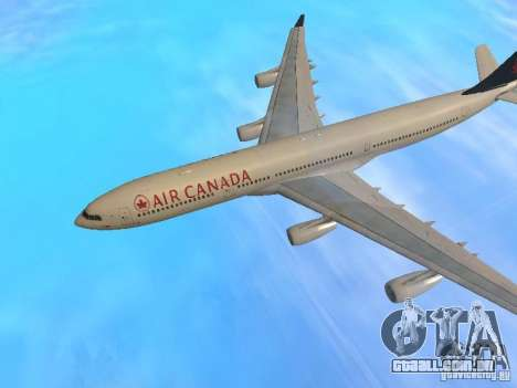 Airbus A340-300 Air Canada para vista lateral GTA San Andreas