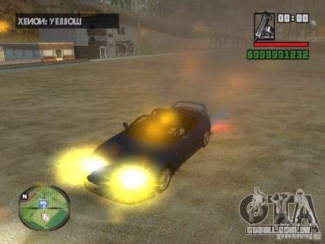 Xenon v3.0 para GTA San Andreas por diante tela