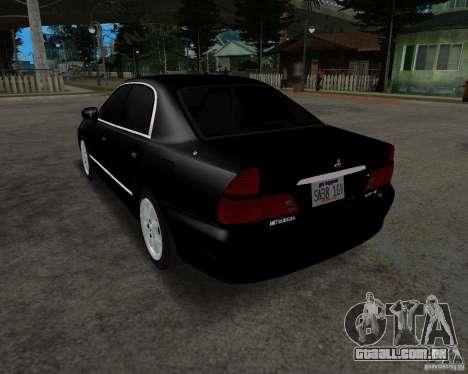 Mitsubishi Diamante para GTA San Andreas traseira esquerda vista