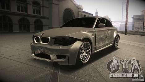 BMW 1M E82 Coupe 2011 V1.0 para GTA San Andreas vista superior