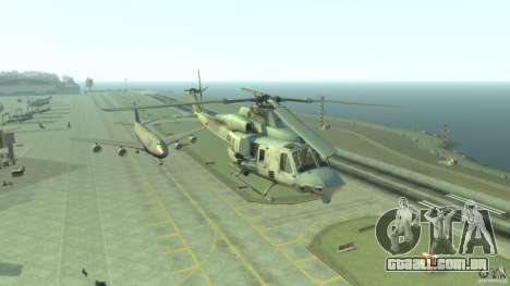 Bell UH-1Y Venom para GTA 4 vista de volta