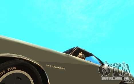 Chevrolet El Camino 1972 para GTA San Andreas vista interior