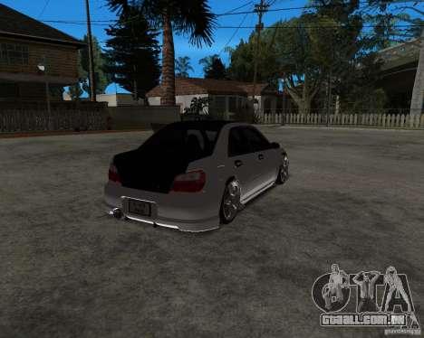 Subaru Impreza (exclusive) para GTA San Andreas esquerda vista
