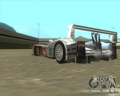 Audi R10 TDI para GTA San Andreas vista traseira