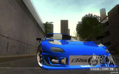 Mazda Rx7 C-West para vista lateral GTA San Andreas