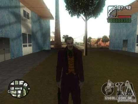 HQ Joker Skin para GTA San Andreas por diante tela