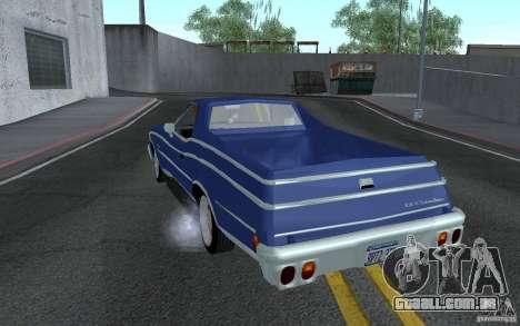 Chevrolet El Camino 1976 para GTA San Andreas traseira esquerda vista