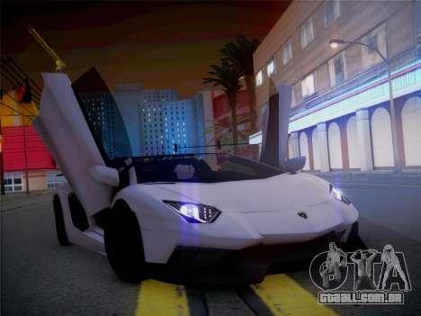 Lamborghini Aventador LP700-4 Roadstar para GTA San Andreas vista traseira