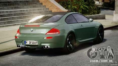 BMW M6 2010 v1.5 para GTA 4 traseira esquerda vista