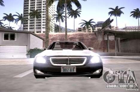 Mercedes-Benz S600 v12 para GTA San Andreas vista interior