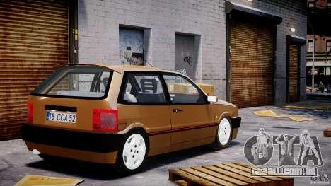 Fiat Tipo 1990 para GTA 4 traseira esquerda vista