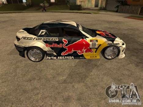 Mazda RX-8 RedBull para GTA San Andreas esquerda vista
