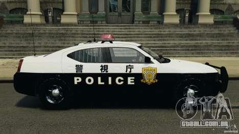 Dodge Charger Japanese Police [ELS] para GTA 4 esquerda vista