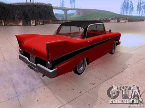 Plymouth Belvedere Sport Sedan 1957 para GTA San Andreas vista direita