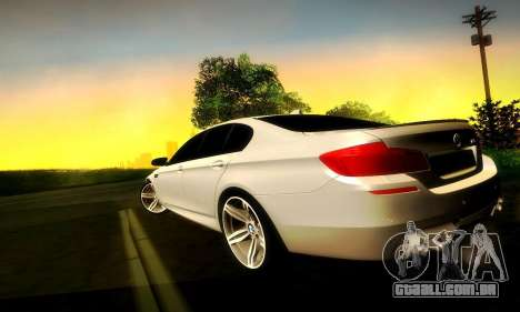 BMW M5 F10 para vista lateral GTA San Andreas