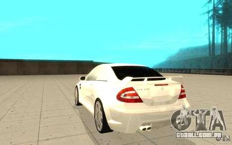Mercedes-Benz CLK 500 Kompressor para GTA San Andreas traseira esquerda vista