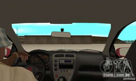 Honda Civic Type R - Stock + Airbags para GTA San Andreas vista interior