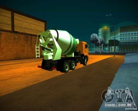 KAMAZ 6460 betoneira para GTA San Andreas vista direita