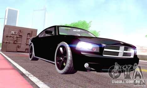 Dodge Charger Fast Five para GTA San Andreas vista interior